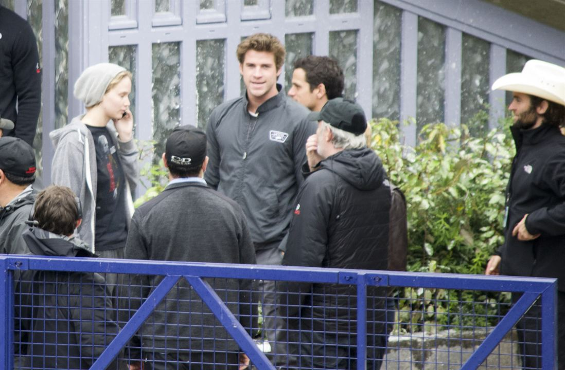 Jennifer Lawrence (Katniss) et Liam Hemsworth (Gale)