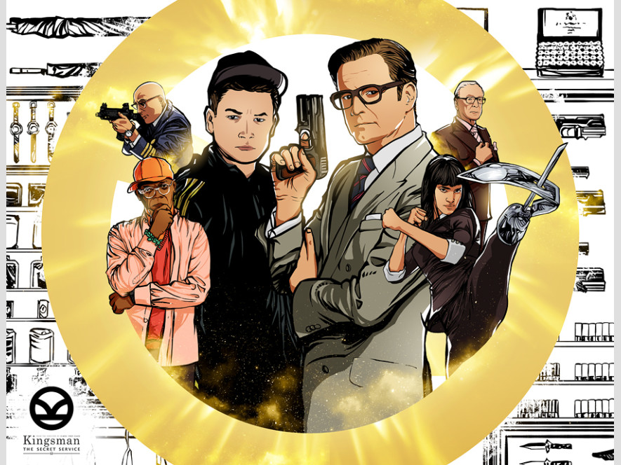 Kingsman: The Secret Service Comic Style Poster