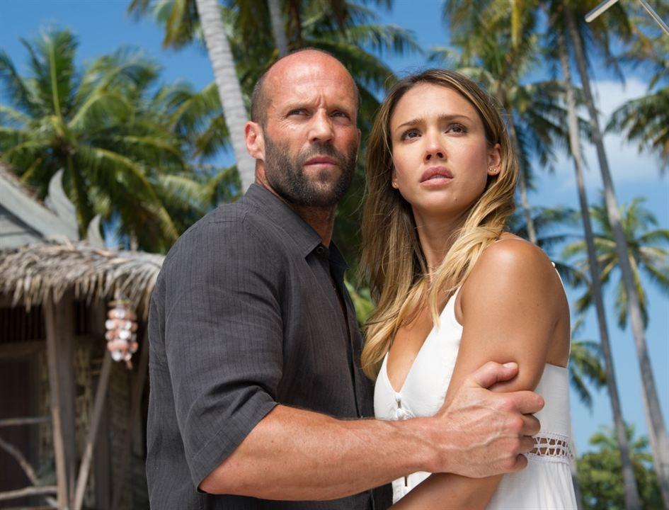 Première photo de Jason Statham et Jessica Alba dans Le Flingueur 2