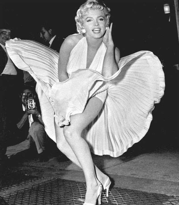 "La robe de Marilyn Monroe dans ""7 ans de réflexion"""