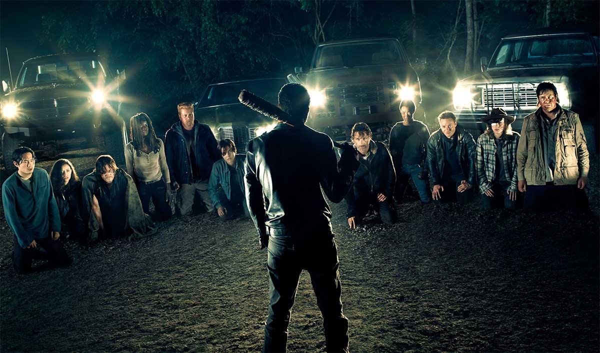 Negan face à Rick et ses compagnons