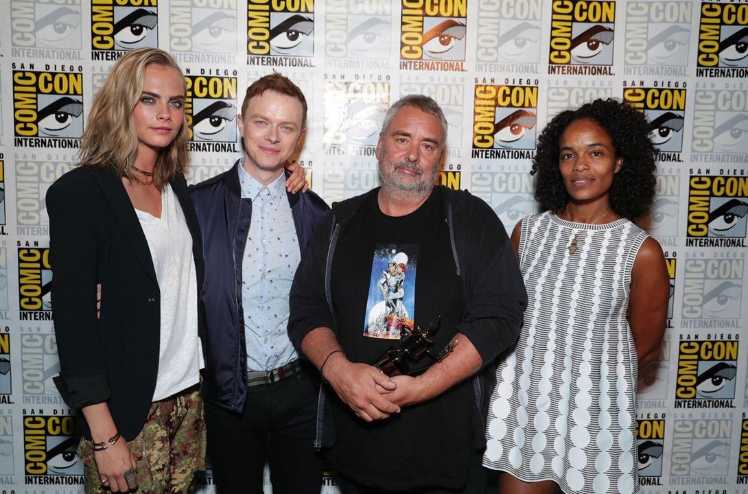 Cara Delevingne, Dane DeHaan, Luc Besson et Virginie Besson-Silla