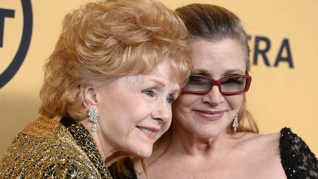 Debbie Reynolds et Carrie Fisher (2015)