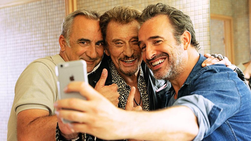 Antoine Duléry, Johnny Hallyday et Jean Dujardin