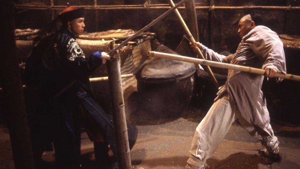 Face à Jet Li dans Il était une fois en Chine II : La secte du Lotus Blanc