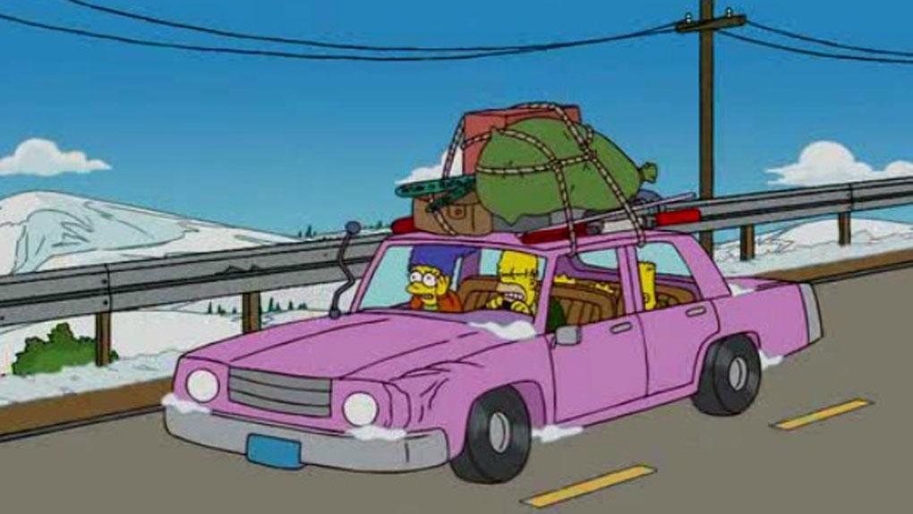 """Départ en vacances dans la """"voiture-poubelle"""" familiale"""