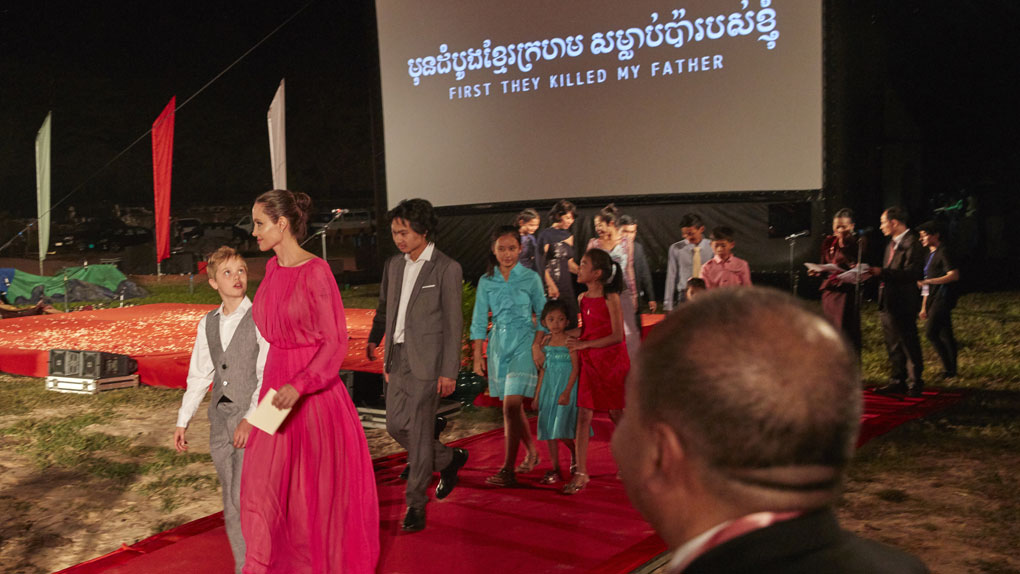 Avant-première de First They Killed My Father à l'Angkor Wat Temple Complex de Siem Reap