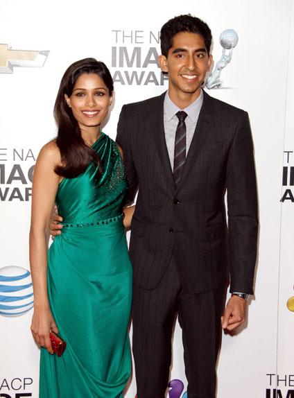 Sur le tapis rouge de Slumdog Millionaire