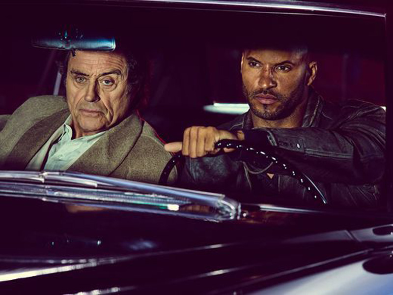 Mr. Wednesday (Ian McShane) & Shadow Moon (Ricky Whittle)