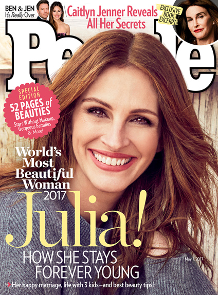 Julia Roberts, rayonnante en couverture de People