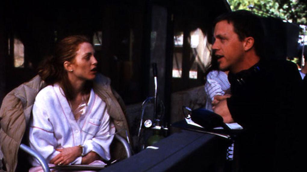 Julianne Moore et Todd Haynes sur le tournage de Safe (1995)