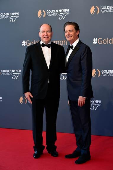 Le prince Albert II de Monaco et Kyle MacLachlan