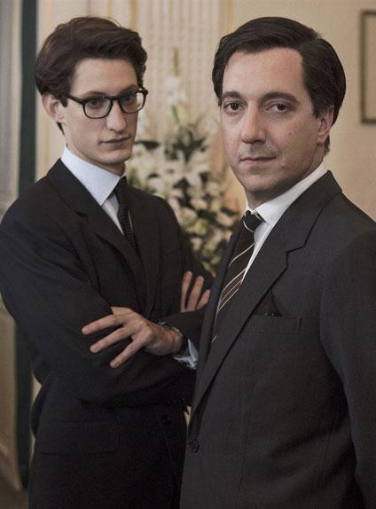 Pierre Niney et Guillaume Gallienne dans Yves Saint Laurent de Jalil Lespert