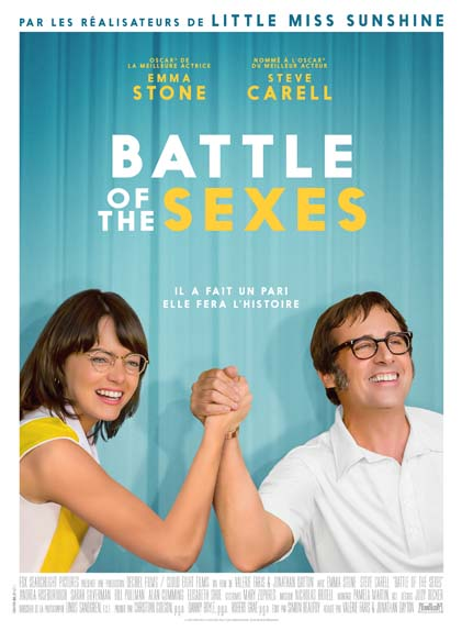 """Battle of the sexes"" avec Emma Stone, Steve Carell, Andrea Riseborough ..."