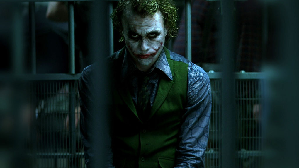 "Le Joker dans ""The Dark Knight"""