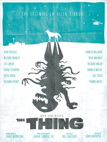 The Thing - Affiche réalisée par Matthew Esparza