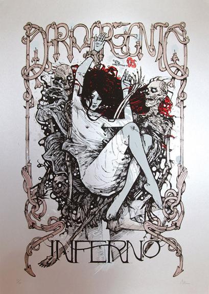 Inferno - Affiche réalisée par un collectif de trois artistes baptisé Malleus