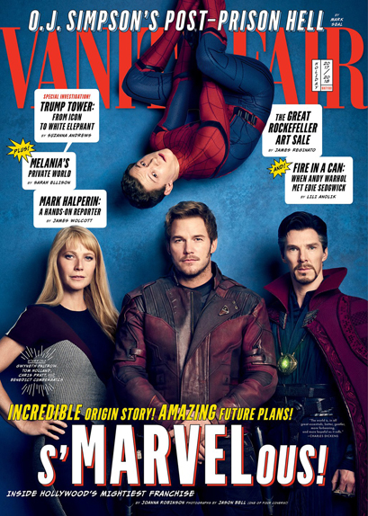 Pepper Potts, Spider-Man, Star-Lord & Doctor Strange