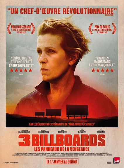 3 Billboards, Les Panneaux de la vengeance : 2 Oscars, meilleure actrice et acteur dans un second rôle