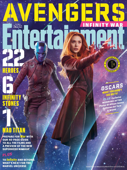 Nebula (Karen Gillan) & Scarlet Witch (Elizabeth Olsen)