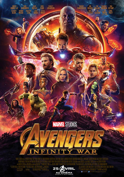 Avengers : Infinity War de Joe Russo, Anthony Russo avec Chris Evans, Robert Downey Jr et Scarlett Johansson