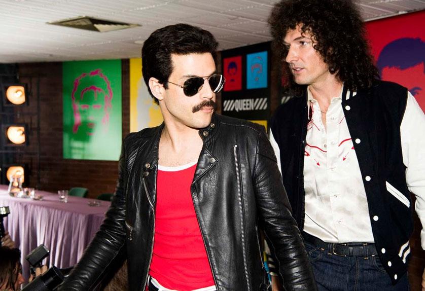 Freddie Mercury (Rami Malek) et Brian May (Gwilym Lee)
