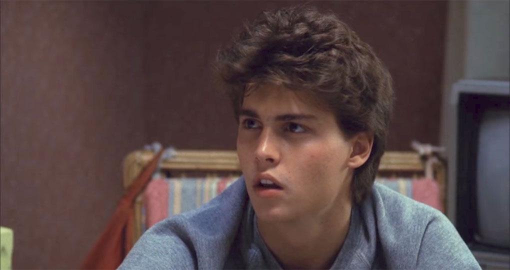 """Johnny Depp dans """"Les Griffes de la nuit"""" (1984)"""