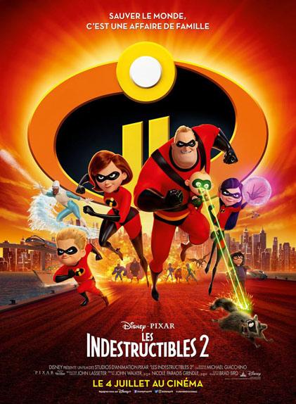 36 - Les Indestructibles 2 (2018) : 1,000 milliard de $
