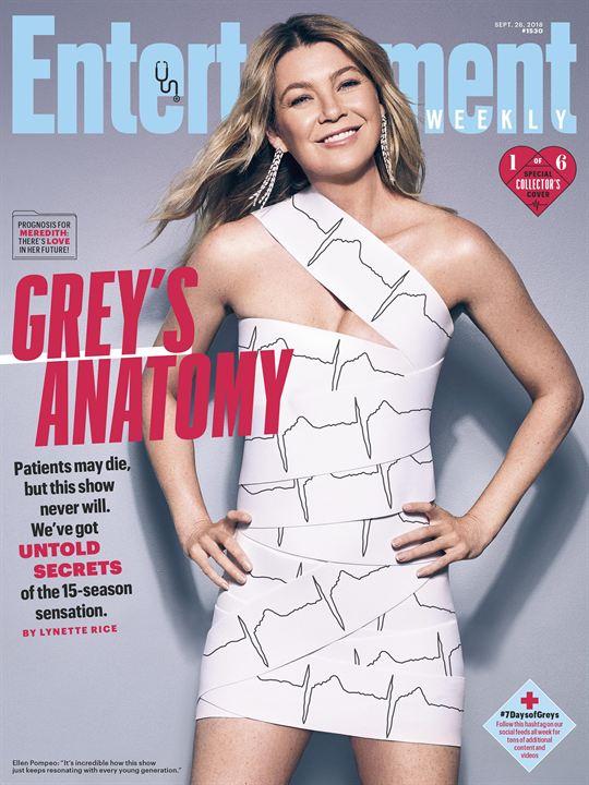 Ellen Pompeo en couverture d'Entertainment Weekly
