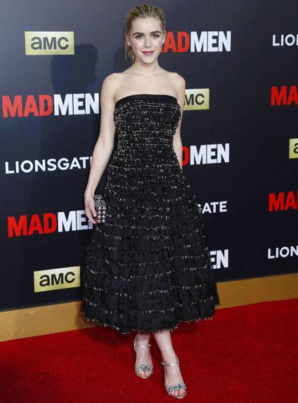 Kiernan Shipka a tourné dans les sept saisons de Mad Men