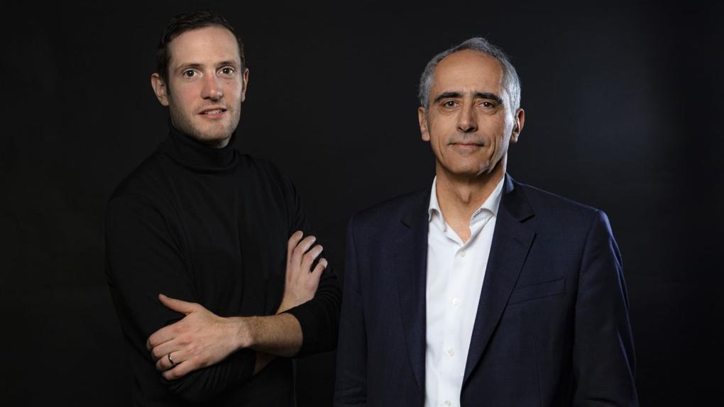 Nathan Reznik (gauche) et Jean Mizrahi, président d'Ymagis