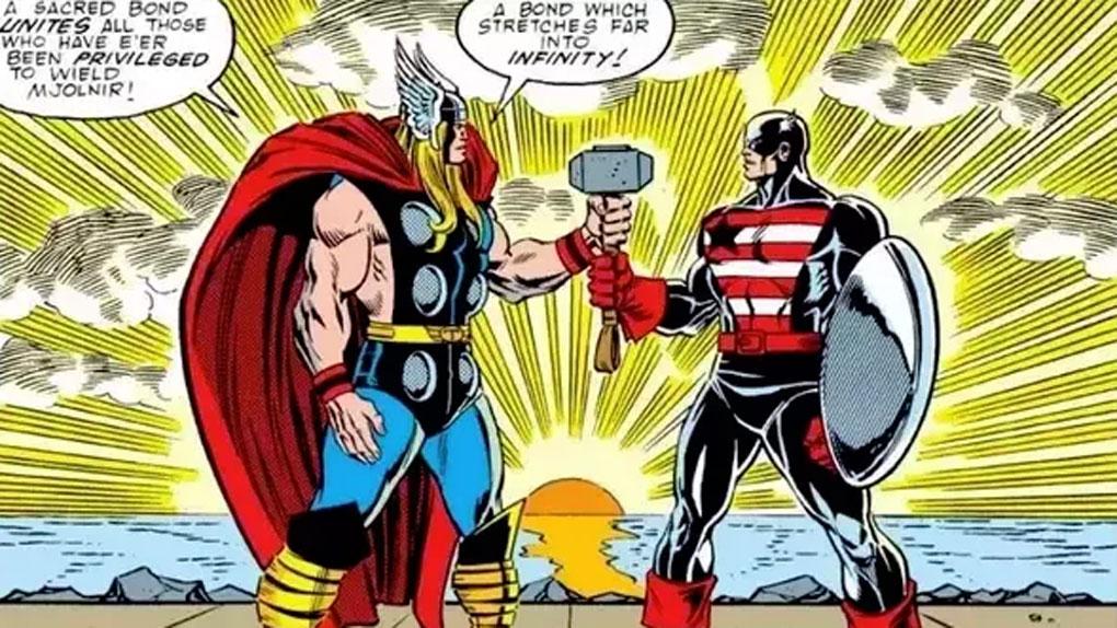 Captain America se bat avec Mjolnir