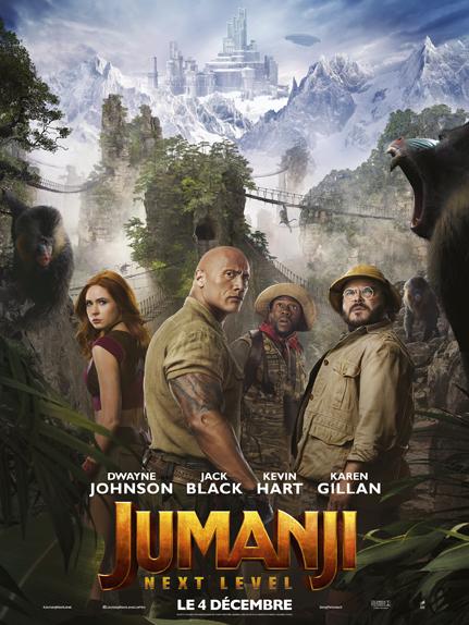 Jumanji : Next level avec Dwayne Johnson, Kevin Hart et Jack Black