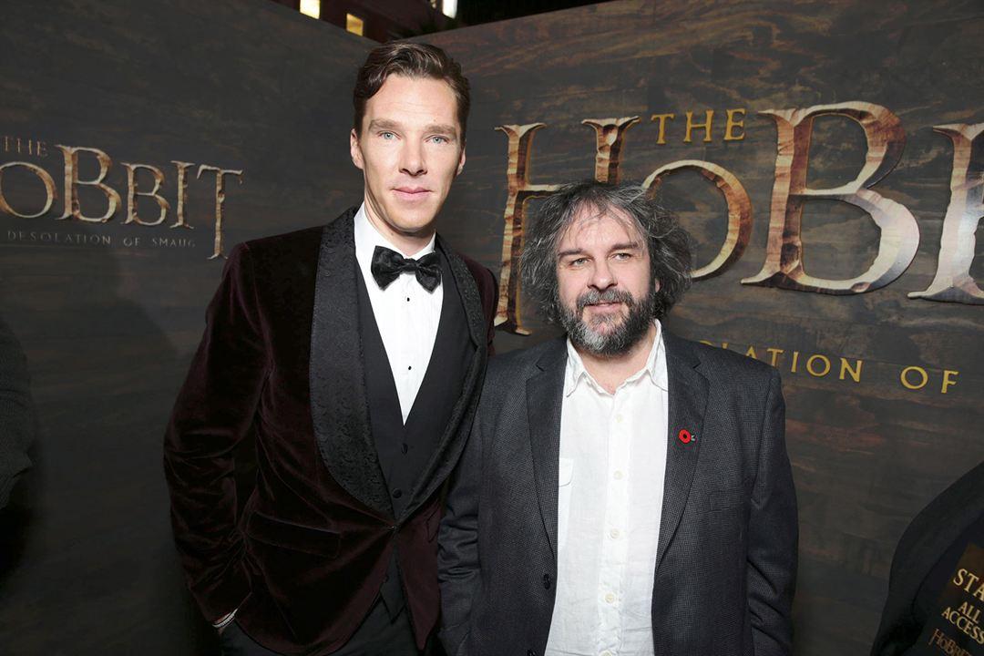 Le Hobbit : la Désolation de Smaug : Photo promotionnelle Benedict Cumberbatch, Peter Jackson