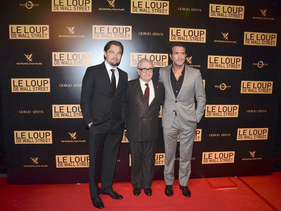 Le Loup de Wall Street : Photo promotionnelle Jean Dujardin, Leonardo DiCaprio, Martin Scorsese