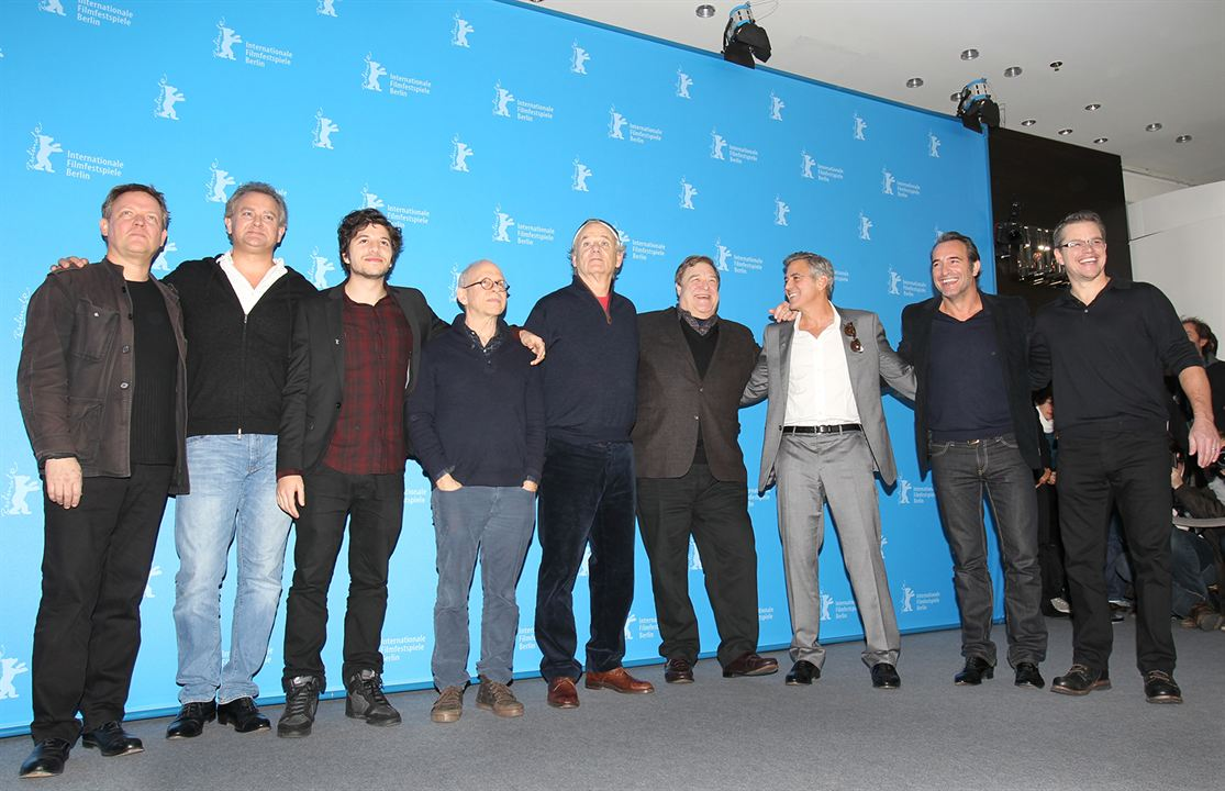 Monuments Men : Photo promotionnelle Bill Murray, Bob Balaban, Dimitri Leonidas, George Clooney, Jean Dujardin