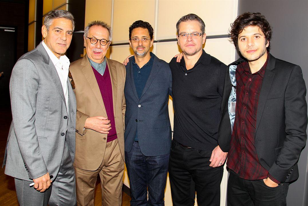 Monuments Men : Photo promotionnelle Dimitri Leonidas, George Clooney, Grant Heslov, Matt Damon
