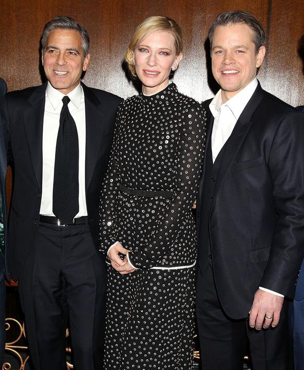 Monuments Men : Photo promotionnelle Cate Blanchett, George Clooney, Matt Damon