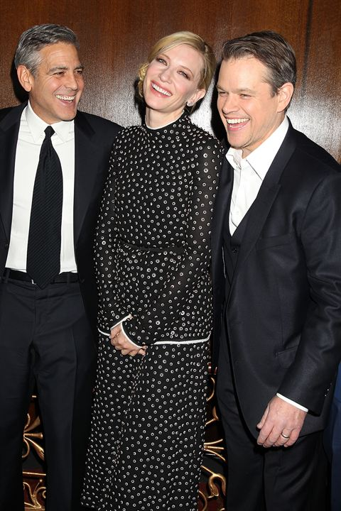 Monuments Men : Photo promotionnelle Cate Blanchett, George Clooney, Matt Damon