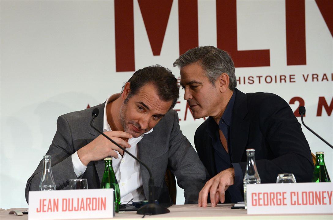 Monuments Men : Photo promotionnelle George Clooney, Jean Dujardin