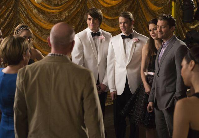 Photo Blake Jenner, Chord Overstreet, Matthew Morrison, Melissa Benoist