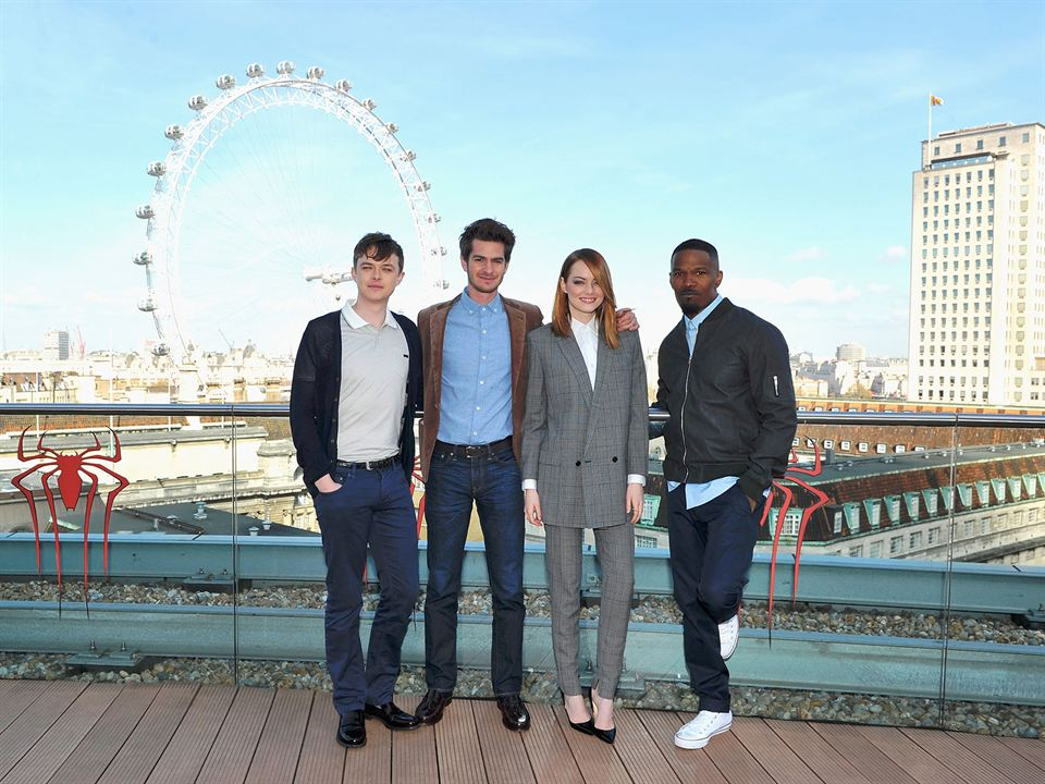 The Amazing Spider-Man : le destin d'un Héros : Photo promotionnelle Andrew Garfield, Dane DeHaan, Emma Stone, Jamie Foxx