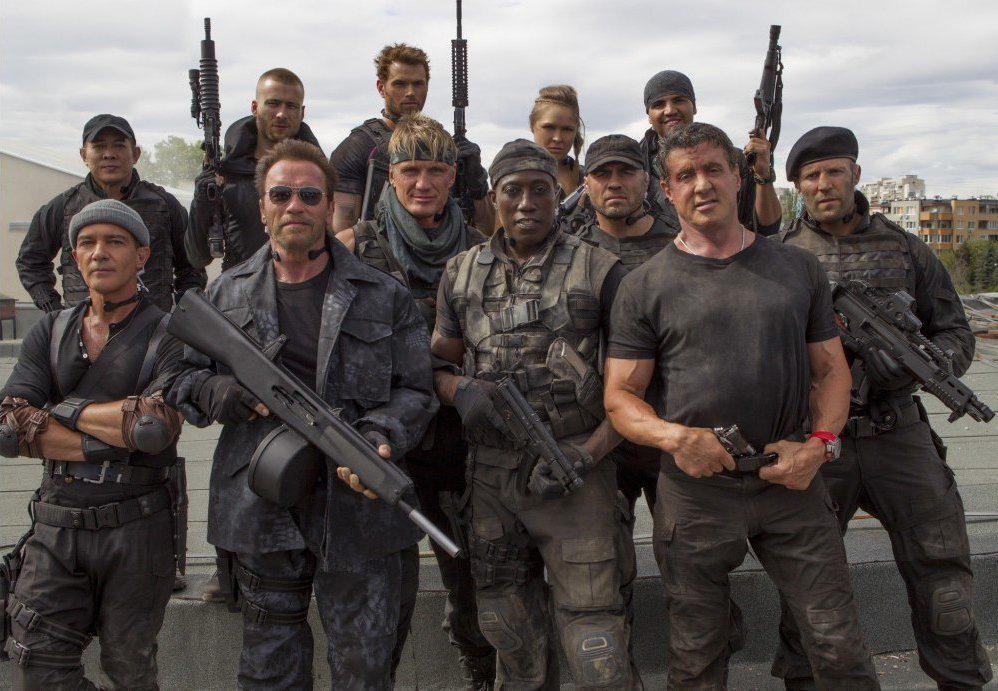 Expendables 3 : Photo Antonio Banderas, Arnold Schwarzenegger, Dolph Lundgren, Glen Powell, Jason Statham
