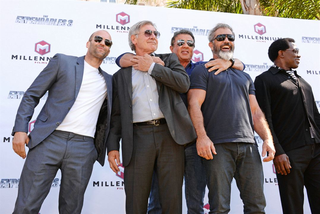 Expendables 3 : Photo promotionnelle Harrison Ford, Jason Statham, Mel Gibson, Sylvester Stallone, Wesley Snipes