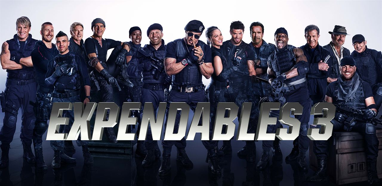 Expendables 3 : Photo Antonio Banderas, Arnold Schwarzenegger, Dolph Lundgren, Glen Powell, Harrison Ford