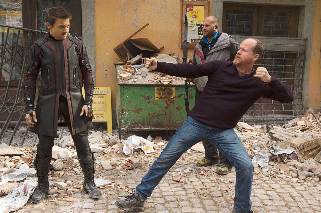 Avengers : L'ère d'Ultron : Photo Jeremy Renner, Joss Whedon