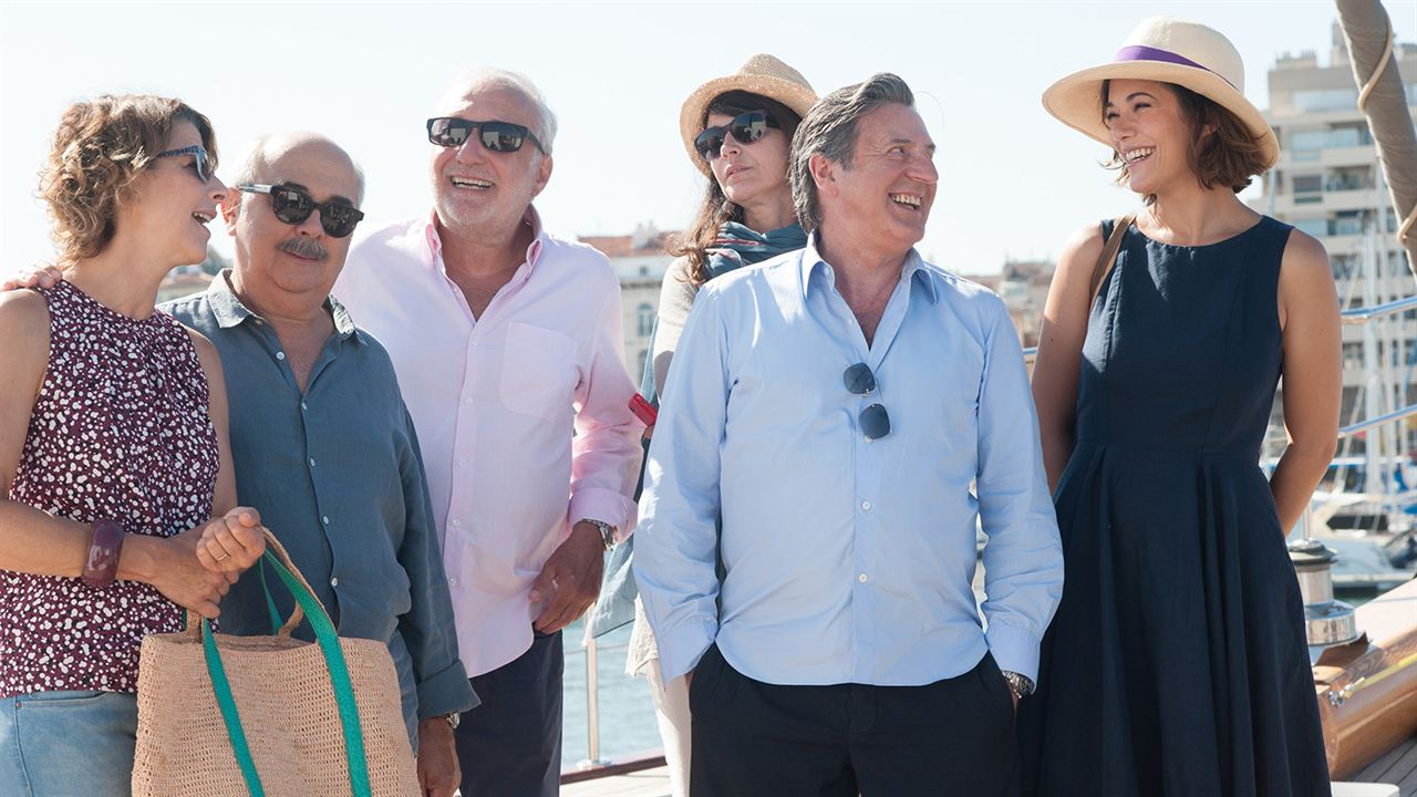 Entre amis : Photo Daniel Auteuil, François Berléand, Gérard Jugnot, Isabelle Gélinas, Mélanie Doutey