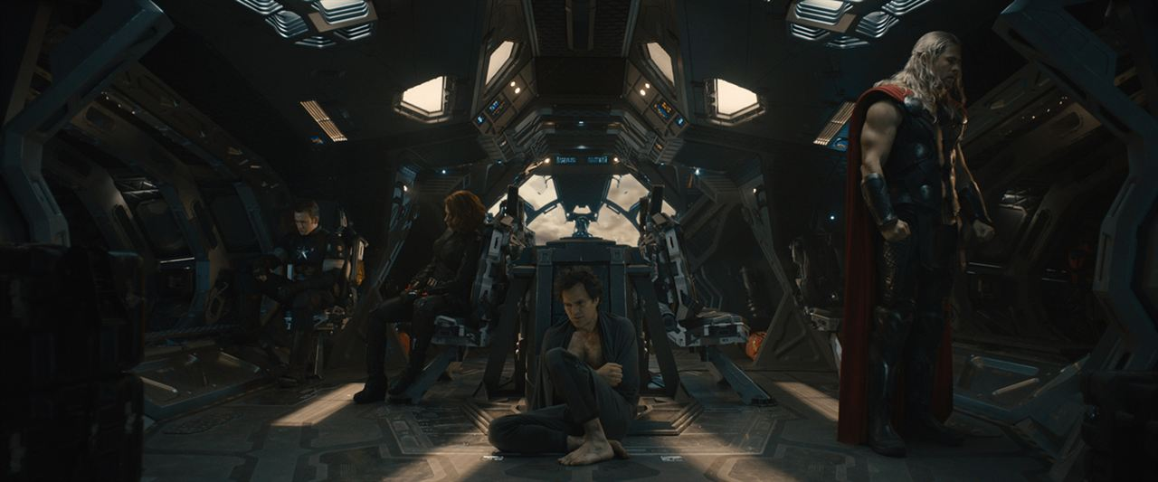 Avengers : L'ère d'Ultron : Photo Chris Evans, Chris Hemsworth, Mark Ruffalo, Scarlett Johansson