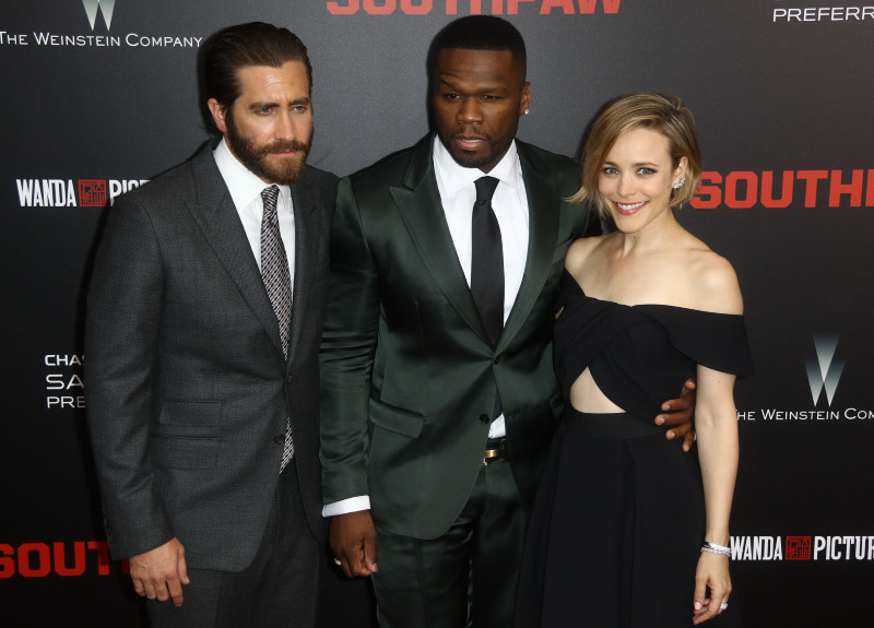 La Rage au ventre : Photo promotionnelle Curtis '50 Cent' Jackson, Jake Gyllenhaal, Rachel McAdams