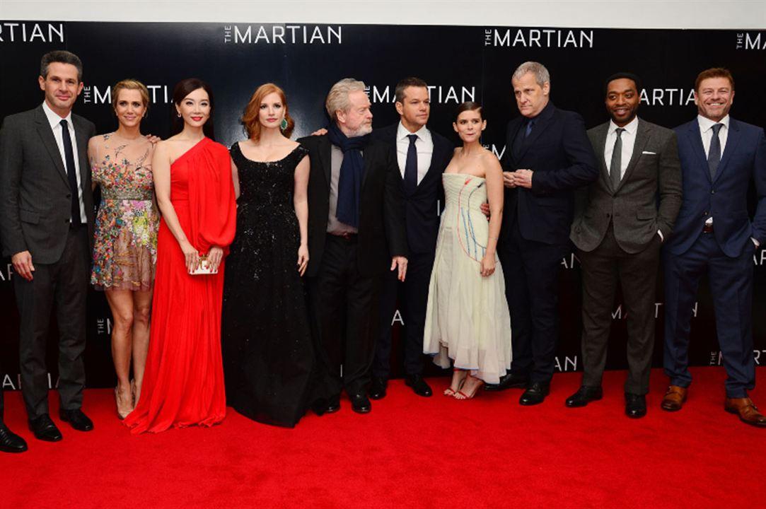 Seul sur Mars : Photo promotionnelle Chen Shu, Chiwetel Ejiofor, Jessica Chastain, Kate Mara, Matt Damon